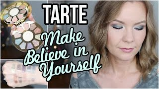 Tarte Make Believe in Yourself Palette! Get Ready with Me & Swatches! | LipglossLeslie