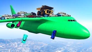getlinkyoutube.com-FLYING 1000 CARS ON A PLANE! (GTA 5 Mod)