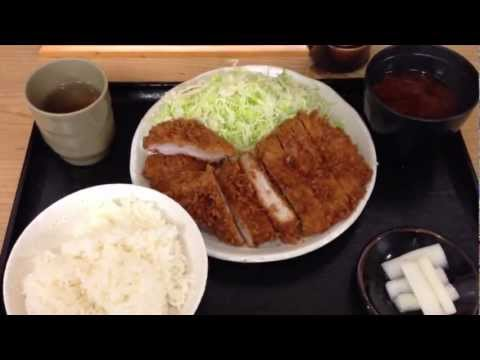 MARUYA : Combo Deep-fried pork cutlet (Pork loin & Pork filet) / まるや コンビかつ定食