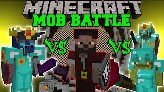 getlinkyoutube.com-WALKER KING VS PIRATE CAPTAIN VS GOBLIN BOSS - Minecraft Mob Battles - Better Dungeons Mod