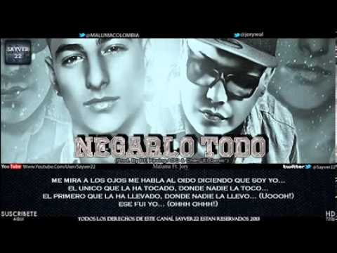 Negarlo Todo - Maluma Ft. Jory Boy [Video Oficial] (Letra) R