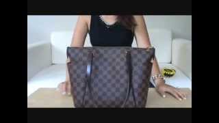 getlinkyoutube.com-Louis Vuitton TotallyPM in Damier Ebene Reveal