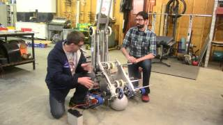 getlinkyoutube.com-Robot in 3 Days 2016: Team Ri3d 1.0 Day two FRC Stronghold shooter and climber