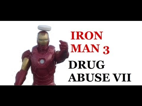 IRON MAN 3 | SHOOTING AN ASPIRIN OFF OF IRON MAN'S HEAD. DRUG ABUSE VII.