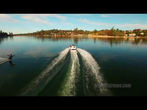 Drone waterski video from 11-13-16 - AerialExtreme.com