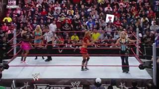 WWE SuperStars Santina and Kelly Kelly vs Beth Pheonix Rosa Mendes