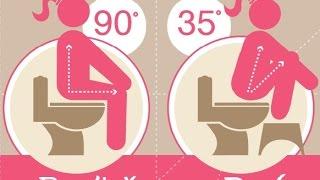 getlinkyoutube.com-Toilet Squat Stool :  Treat Constipation, Hemorrhoids With Toilet Squat Stool