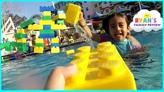 getlinkyoutube.com-LegoLand Hotel Swimming Pool Tour! Kids Playtime at the Pool Family Fun Vacation