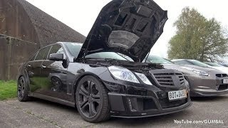 getlinkyoutube.com-BRABUS E V12 Sedan 800HP - Revs & Dragraces!