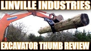 getlinkyoutube.com-Linville Industries Excavator Thumb Installation and Review