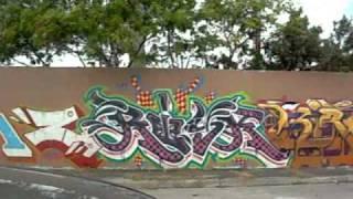 getlinkyoutube.com-Miami Art Basel graffiti 2008 Primary flight Dare, Reyes, Retna, El Mac,  Revok, Sever,