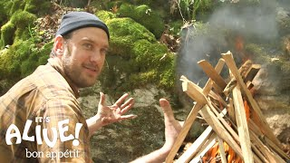 Brad Grills Steak on a Campfire | It's Alive with Brad | Bon Appétit width=