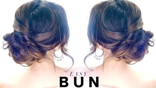 getlinkyoutube.com-3-Minute Elegant SIDE BUN Hairstyle ★ EASY Summer Updo HAIRSTYLES