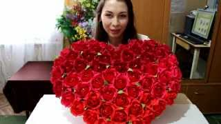 getlinkyoutube.com-Сердце из конфет ко дню Святого Валентина