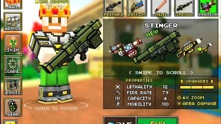 getlinkyoutube.com-Pixel Gun 3D Minecraft Style NEW WEAPON |STINGER| IMPULSE SNIPER| EXTERMINATOR #6