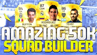 AMAZING 50K SQUAD BUILDER!!! Ft. Rodriguez & Tevez | FIFA 16 Ultimate Team