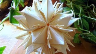 getlinkyoutube.com-Origami ♥ peace Crane ♥ Kusudama