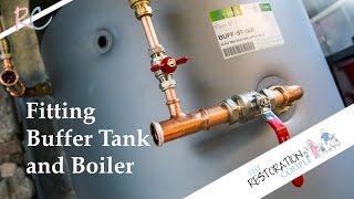 getlinkyoutube.com-Biomass Boiler Installation 4.0 | Fitting Buffer Tank & Lifting the Boiler