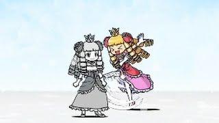 getlinkyoutube.com-★ にゃんこ大戦争★ ケリ姫VSケリ姫 【激ムズ Ver】 第3章 Battle Cats