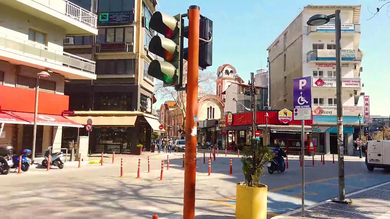 Βίντεο απο το κέντρο της Κατερίνης λίγο πριν ισχύσουν τα μέτρα της απαγόρευσης κυκλοφορίας (20/3/2020)