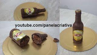 getlinkyoutube.com-Como fazer bolo garrafa de cerveja/ bolo garrafa de skol.