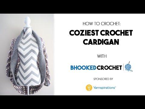 How To Crochet the Coziest Crochet Cardigan Left Handed