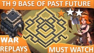 getlinkyoutube.com-TH 9 (TOWN HALL 9) ANTI 2 STARS WAR BASE OF PAST FUTURE || MOST POPULAR BASE || CLASH OF CLANS