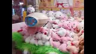 getlinkyoutube.com-UFOキャッチャーでぽてうさろっぴーをget★playing Crane Game and got stuffed toy bunnies