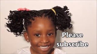 getlinkyoutube.com-HOW TO : KIDS HAIRSTYLE ||  BOXBRAIDS WITH CURLY TIPS