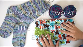 getlinkyoutube.com-How To Knit Socks - Two At A Time Cuff Down - With The Knitting Expat