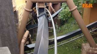 getlinkyoutube.com-Phantasialand - Deep in Africa - Black Mamba Onride & Offride - HD mit original Soundtrack