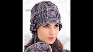 getlinkyoutube.com-Вязаная шапка крючком  в стиле 20х.  Часть1. Crochet Hat