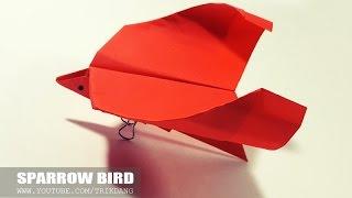 getlinkyoutube.com-Origami for Kids: How to make a SIMPLE Paper/Origami Bird that Flies   Sparrow Bird