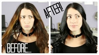 getlinkyoutube.com-Dying Hair With Ion Color Brilliance 2N Darkest Brown