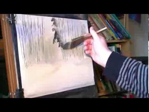 Watercolour painting demo of a walk in the woods