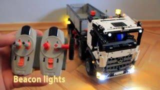 getlinkyoutube.com-LEGO 42043 Mercedes Actros LED Lighting Kit