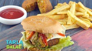 getlinkyoutube.com-Veggie Burger by Tarla Dalal