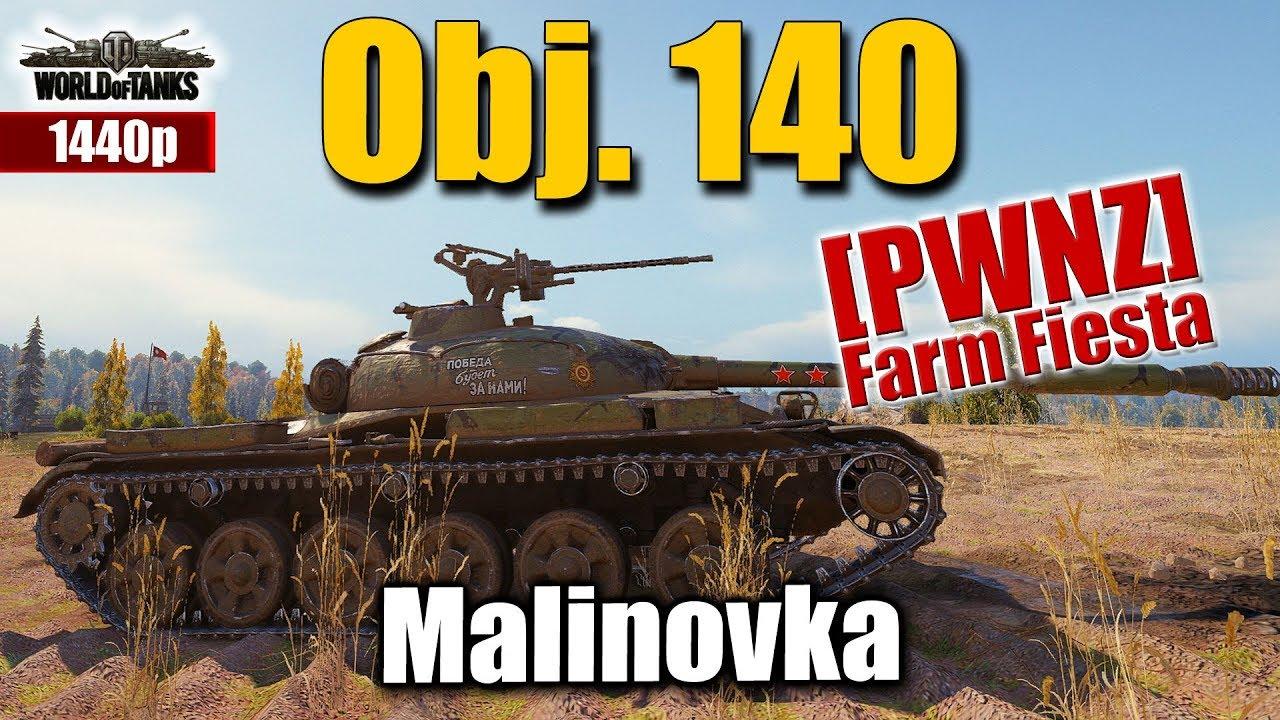 WOT  Object 140 powerplay  Angler   PWNZ   World of Tanks