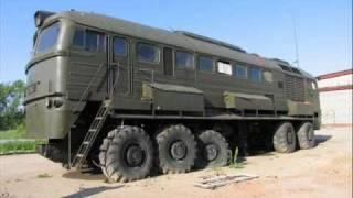 A really awesome 12-wheeled train-like machine