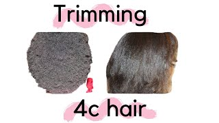 getlinkyoutube.com-Stretching 4c Hair for Trimming!