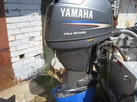 Запуск лодочного мотора YAMAHA после зимы