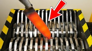 EXPERIMENT - SHREDDING KNIFE AT 1000 Degrees   -  Experiment At Home