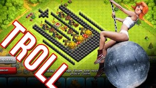 "TROLL BASE   ""FREE GOLD""  CLASH OF CLANS TROLL"