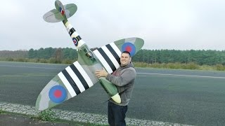 getlinkyoutube.com-50cc YELLOW AIRCRAFT RC SPITFIRE ENGINE PROBLEMS ! - LEE AT WOODBRIDGE - 2014