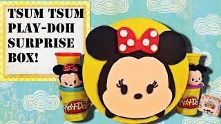getlinkyoutube.com-Disney TSUM TSUM Play-Doh Surprise Box! Japanese Chocolate Eggs, Tomica, Frozen Fever