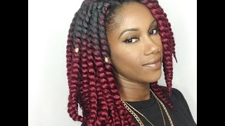 getlinkyoutube.com-How To:: Crochet Twist (pre twisted) BOB length ft Ombré 🌻