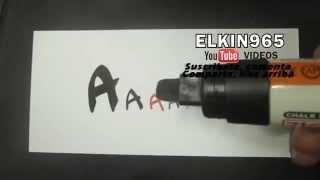 getlinkyoutube.com-Como hacer Letra timoteo Aprende abecedario letra A