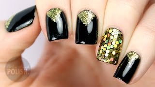 getlinkyoutube.com-New Years Eve Glitter Placement Nail Art Tutorial | PackAPunchPolish