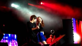 getlinkyoutube.com-MBLAQ Cueca, Lambada, Living la vida loca, Gangnam style [FANCAM] Music Bank Chile