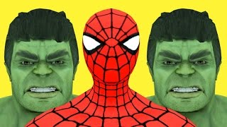 getlinkyoutube.com-Superheroes daddy finger song | Finger Family Nursery Rhymes with giant Hulk